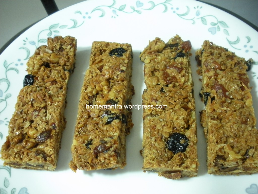 Homemade Granola Bars – MyHomeMantra
