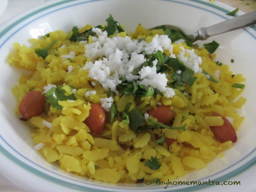 Pohe poha myhomemantra for Cuisine meaning in marathi