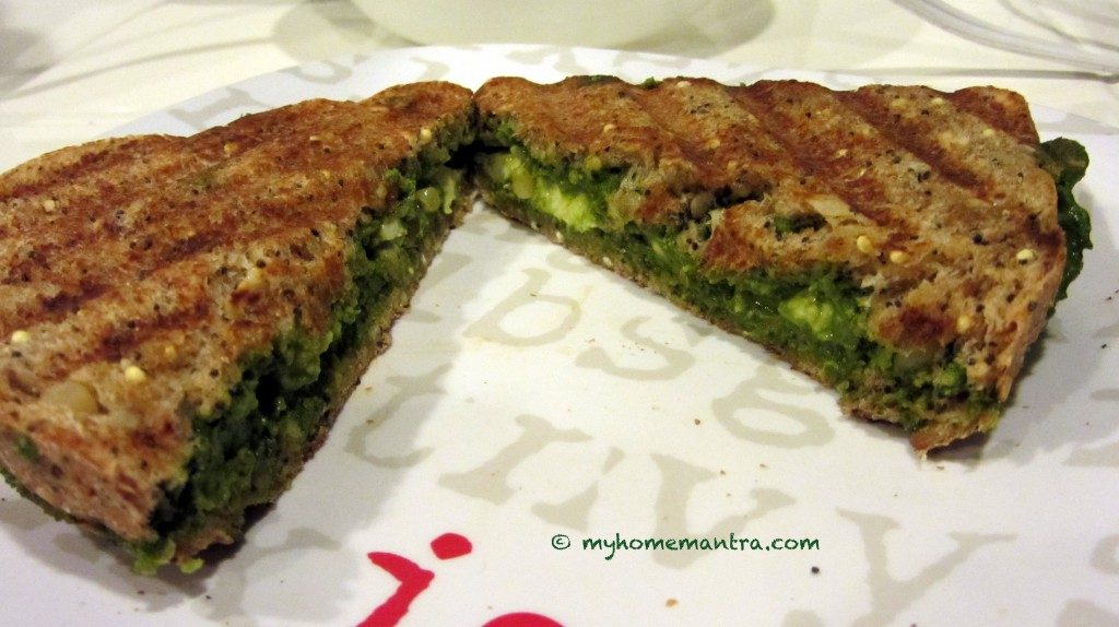 Grilled cheese with basil pesto