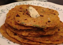 Red Pumpkin Paratha / Thepla