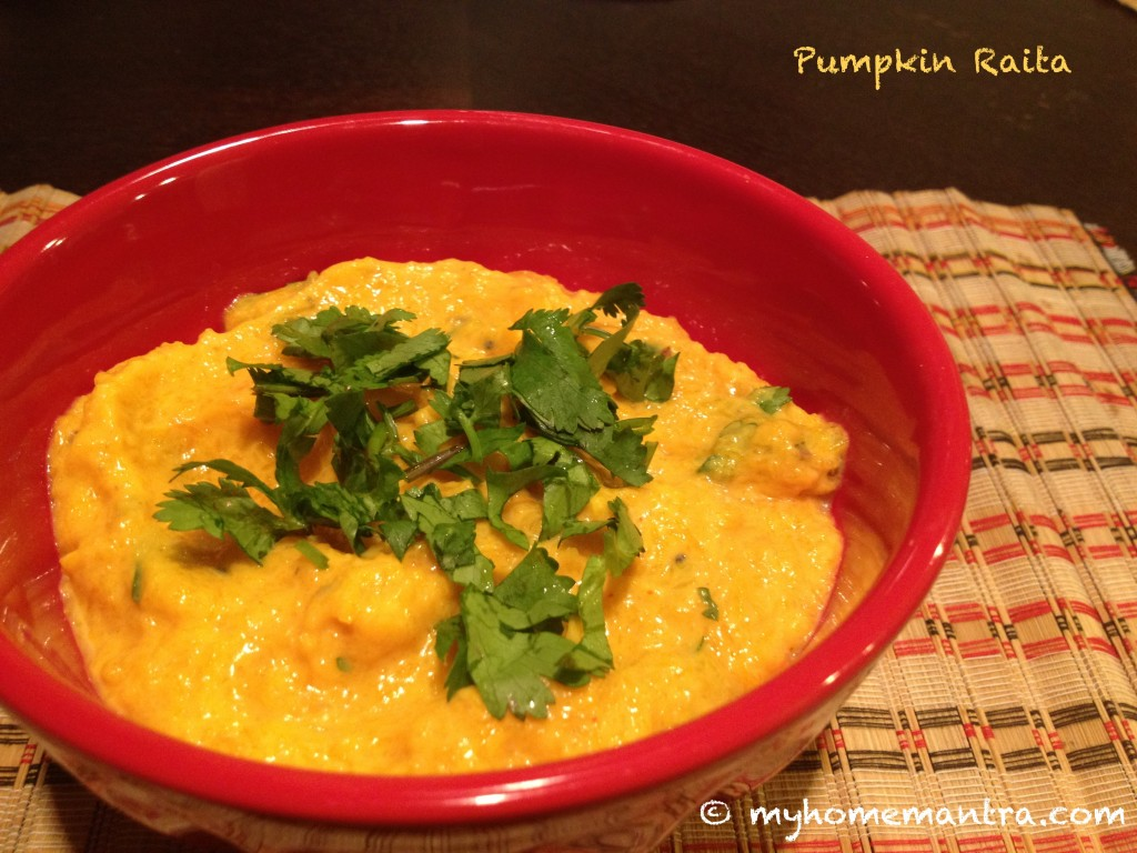 BHoplyache Bharit pumpkin raita