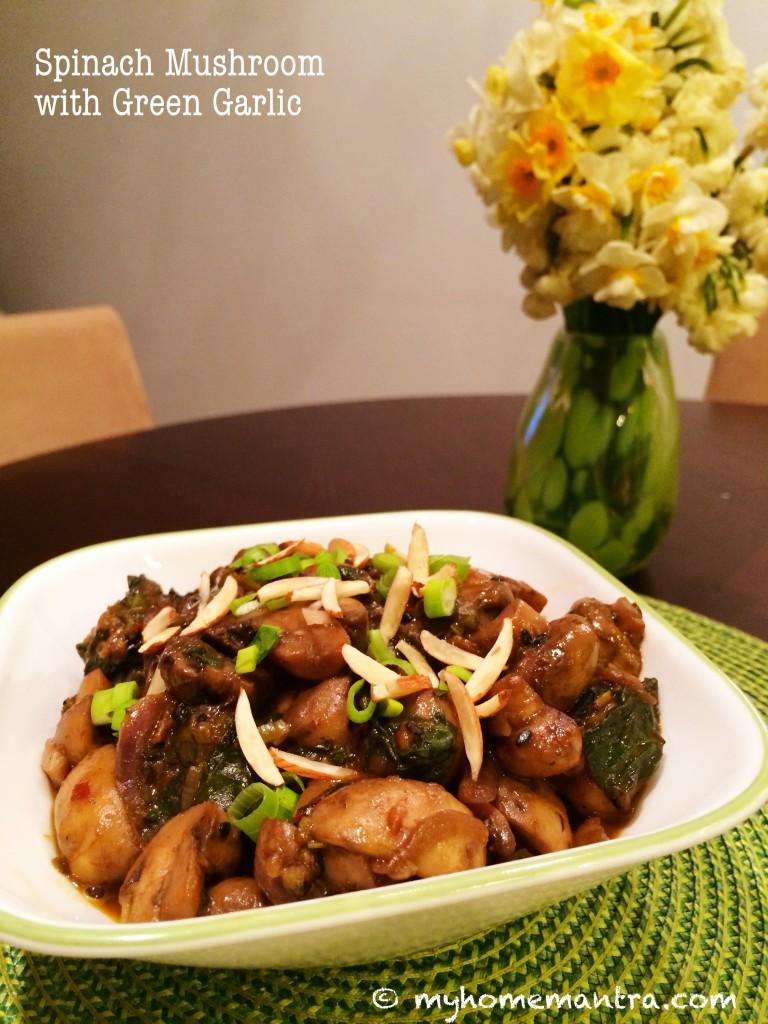 sauteed spinach mushroom