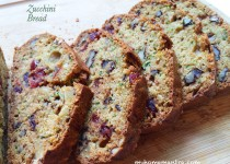 Zucchini Bread with Cranberries and Walnuts
